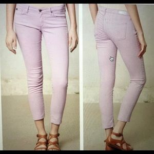 AG The Stevie Ankle Lavender Jeans Size 30R